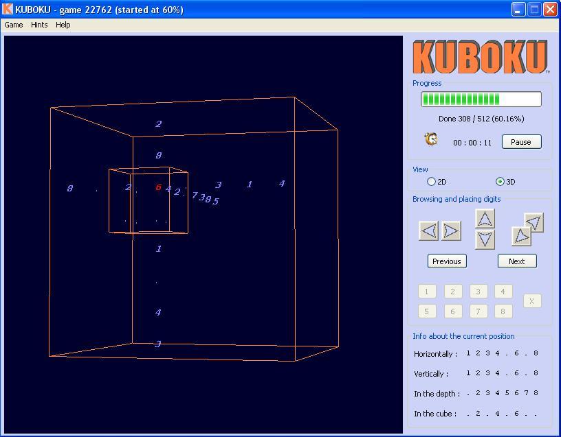 Kuboku : Sudoku in 3D